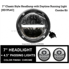 "7"" ""Classic"" LED Headlight & Passing Lamps"