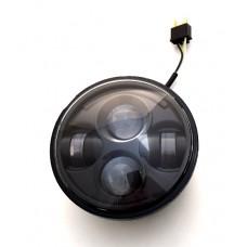 "7"" LED Black or Chrome Headlight"