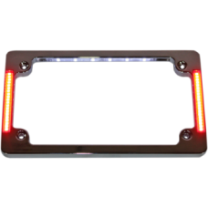 Tri-Horizontal License Plate w/Leds