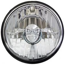 "5 3/4"" Skull, Clear Flat Lens Lamp"
