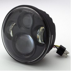 "7"" LED Black or Chrome Headlight"