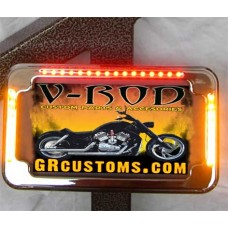 """Smooth"" License Plate w/Led Turns & Brakes"